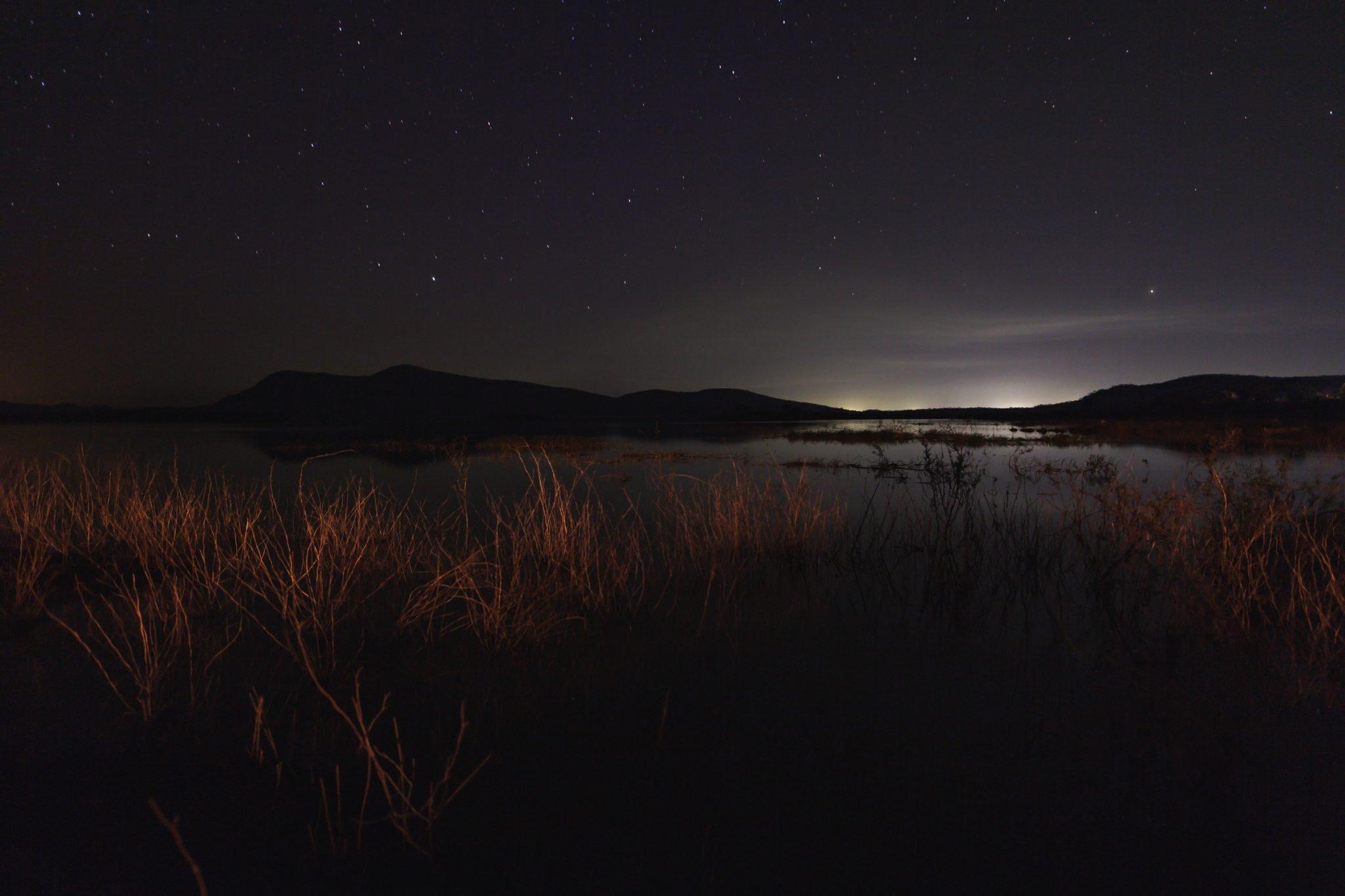 Sinazongwe at night